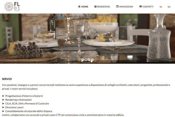 sito web per FL01architects