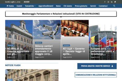 sito web per news parlamento