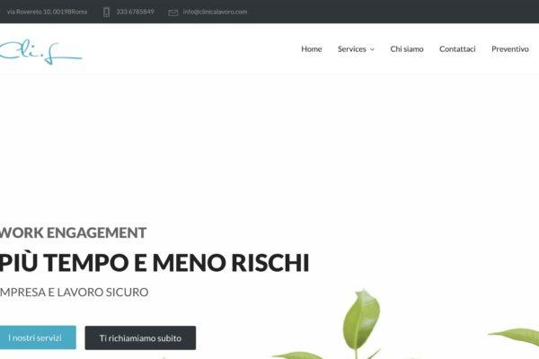 sito web per clinica lavoro